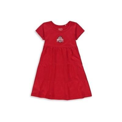 大学 NCAA ガーブ Garb Ohio State Buckeyes Girls Youth Scarlet Jasmine Tiered Dress