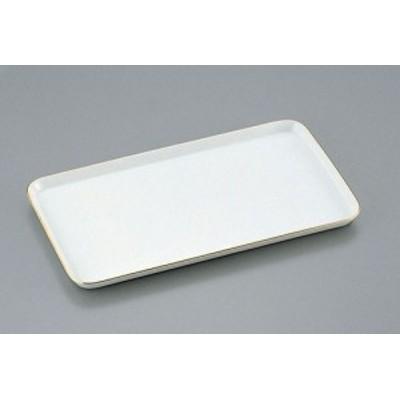 陶器製 ケーキトレー角型 EM-17-WS(金線入)    [7-1068-0702 6-1018-0702  ]