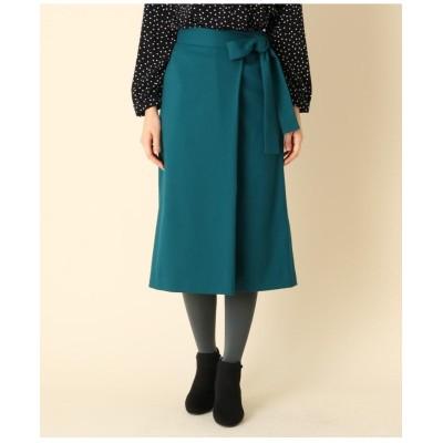【手洗い可】ラップ風リボンベルトスカート