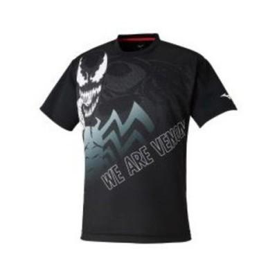 ミズノ Tシャツ(ブラック・サイズ:M) mizuno MARVELグラフィックTシャツ ユニセックス 62JA0Z5209M 【返品種別A】