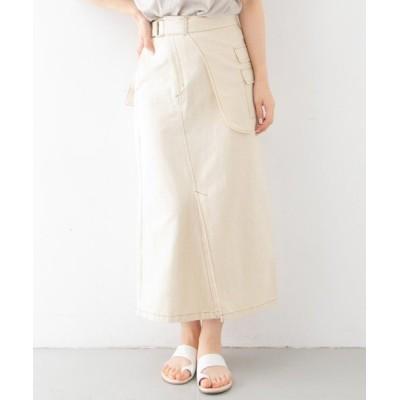 【ケービーエフ】 カラーステッチサロン付きスカート レディース NATURAL one KBF