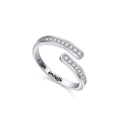 YinShan 925 Sterling Silver I am Enough Rings Encouragement Ajustable Ring