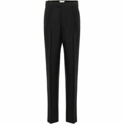 ボッテガ ヴェネタ Bottega Veneta レディース スキニー・スリム ボトムス・パンツ High-Rise Slim Mohair-Blend Pants Black