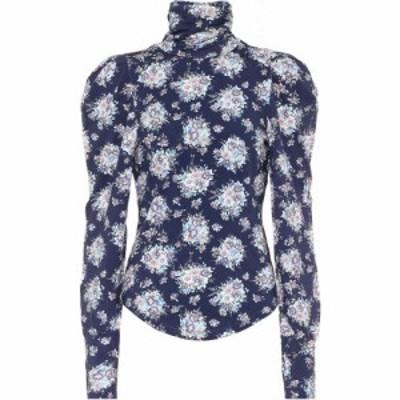 ラブシャックファンシー LoveShackFancy レディース ブラウス・シャツ トップス Vienna Floral Blouse Deep Marine Blue