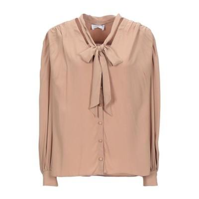 CRISTINAEFFE リボン付きシャツ&ブラウス  レディースファッション  トップス  シャツ、ブラウス  長袖 キャメル