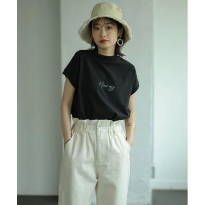 tシャツ Tシャツ フレンチスリーブフロントプリントTシャツ