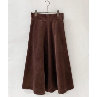 【ミューカ/MJUKA.】 ストレッチコールパネルスカート