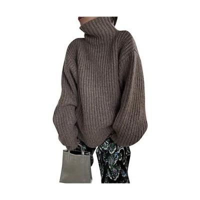 [チュクラ] セーター ニット bottle turtleneck piping kint sb-3 chwt1 レディース FREE モカ