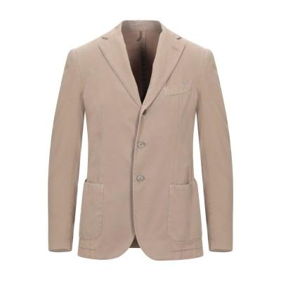 SANTANIELLO テーラードジャケット サンド 46 コットン 100% テーラードジャケット