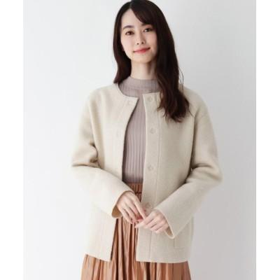 【エッシュ】 ウイナーズノーカラーニットジャケット レディース ベージュ 40(M/ミセス) esche