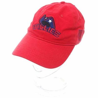 Williamsburg Hatters/ウィリアムズバーグハッターズ ロゴ 刺繍 コットン キャップ 52B21 サイズ ユニセックス- レッド ランクN 102  (中古)