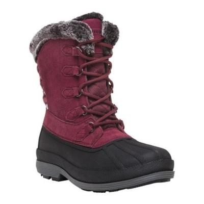 プロペット ブーツ&レインブーツ シューズ レディース Lumi Tall Lace Duck Boot (Women's) Berry Suede