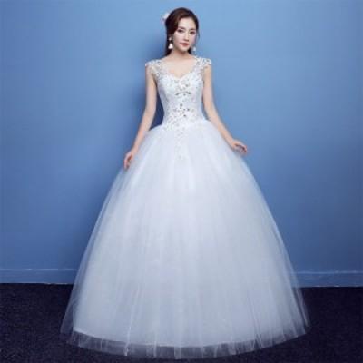 新品花嫁ドレス ウエディングドレス ホワイト レッド二次会大きいサイズ XS-11XLサイズ結婚式 発表会 謝恩会 演出服パーティードレス