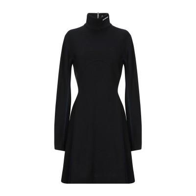 CALVIN KLEIN 205W39NYC ミニワンピース&ドレス ブラック 42 バージンウール 100% ミニワンピース&ドレス