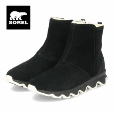 【BIGSALEクーポン対象】 ソレル SOREL ブーツ レディース キネティックショート NL3128 ブラック 防水 スエード