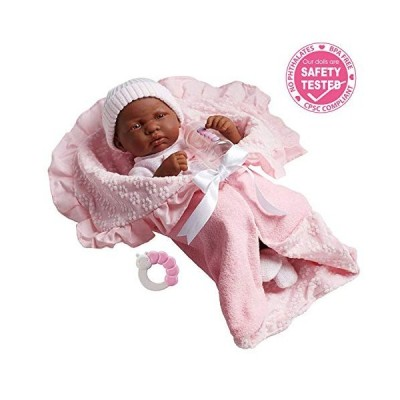海外より出荷【並行輸入品】JC Toys African American La Newborn 15.5 Soft Body Boutique Ba