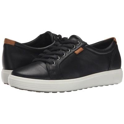 エコー スニーカー レディース Soft VII Sneaker Black/Black