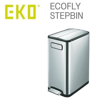 EKO ゴミ箱 エコフライ ステップビン 30リットル EK9377MT-30L (ECOFLY STEPBIN ふた付き おしゃれ スリム)