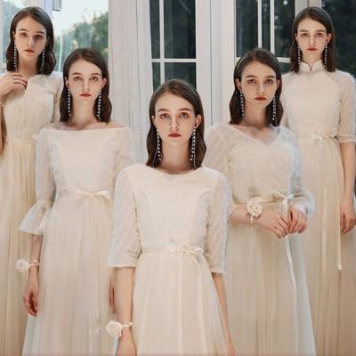 ブライズメイド ドレス 演奏会 ミニドレス ロングドレス カラードレス 二次会 花嫁 ドレス ワンピース ウェディングドレス パーティードレス 発表会 結婚式