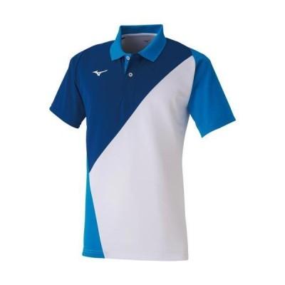 ミズノ  ミズノ ゲームシャツ(ラケットスポーツ)[ユニセックス] 72&nbspホワイト×ディーバブルー(62ja001572)  スポーツ用品 取り寄せ