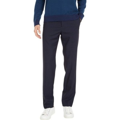 ドッカーズ Dockers メンズ スラックス スキニー・スリム ボトムス・パンツ Slim Fit Plaid Dress Pants with Stretch Navy