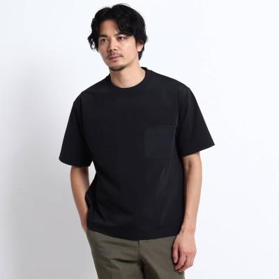 タケオ キクチ TAKEO KIKUCHI 【Sサイズ~】Mizuno コラボ ハイゲージ ポケット Tシャツ (ブラック)