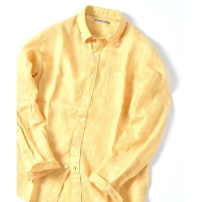 (SHIPS MEN/シップス メン)SU: リネン パナマ レギュラーカラー シャツ/メンズ イエロー