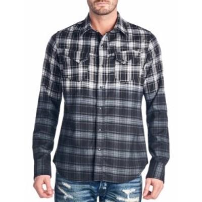 カルトオブインディビジュアリティ Men Clothing Clint Plaid Cotton Sportshirt