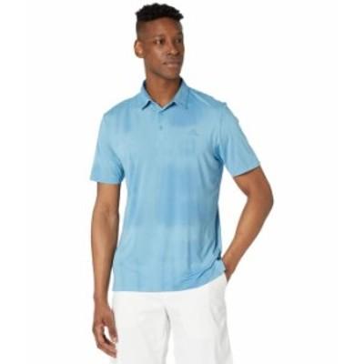 アディダス メンズ シャツ トップス Space Dye Recycled Polyester AEROREADY Polo Shirt Hazy Blue/Hazy