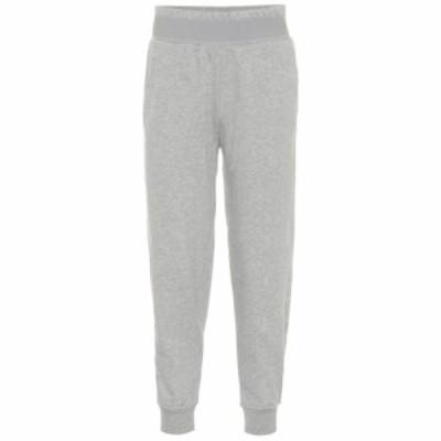 アディダス Adidas by Stella McCartney レディース スウェット・ジャージ ボトムス・パンツ Cotton-blend trackpants Medium Grey Heath