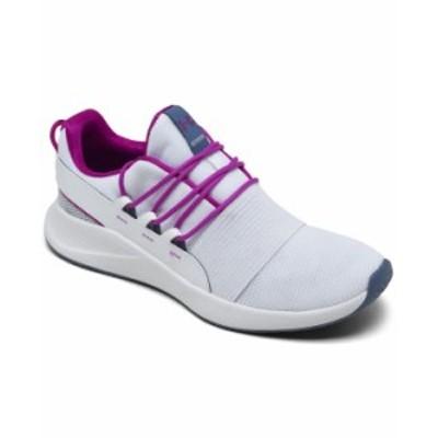 アンダーアーマー レディース スニーカー シューズ Women's Charged Breathe Sportstyle Running Sneakers from Finish Line White