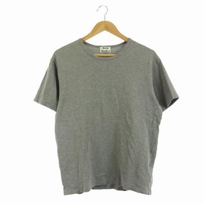 【中古】アクネ ストゥディオズ Acne Studios NIAGARA PIQUE Tシャツ カットソー 半袖 コットン XS グレー /HK メンズ 【ベクトル 古着】