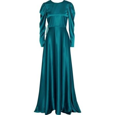 ロクサンダ ROKSANDA レディース パーティードレス ワンピース・ドレス tala bow-embellished two-tone silk-satin gown Teal