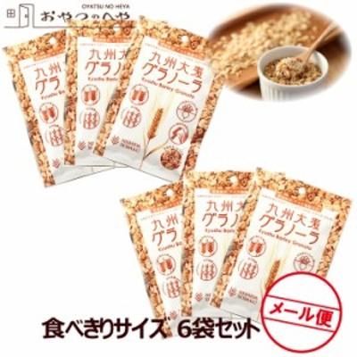 国産 九州 大麦 グラノーラ 小袋 50g×6 クリックポスト(代引き不可) 小分け 食べきりサイズ シリアル 朝食 軽食 お試し 送料無料