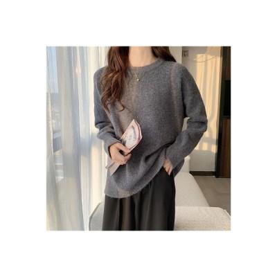 【送料無料】秋冬 韓国風 手厚い ルース 野生のセーター レジャー 単一色 ヘッジ | 346770_A64027-6321478