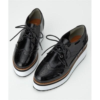 厚底オックスフォードシューズ(低反発中敷) シューズ(フラットシューズ) Shoes
