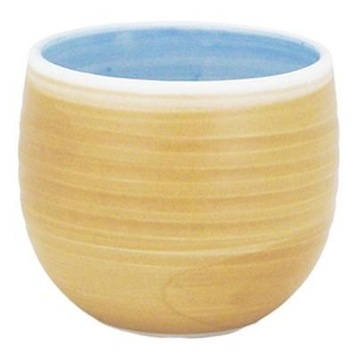 千茶 和食器 / 錆(厚口)六べ丸千茶 寸法:7.5 x 6cm