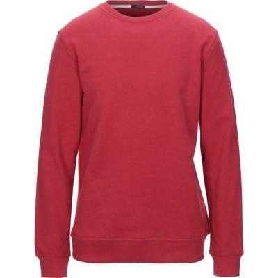 プラスピープル (+) PEOPLE メンズ スウェット・トレーナー トップス sweatshirt Red