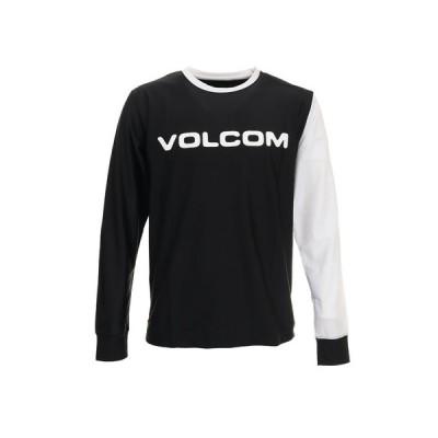 ボルコム(Volcom) ブランド ロゴ サーフ長袖Tシャツ SN03117JA BLK (メンズ)