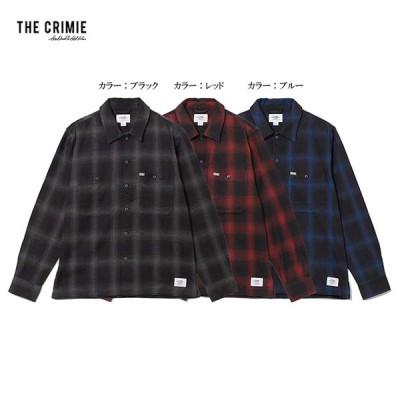 CRIMIE クライミー L/S Shirts  ネル シャツ 長袖 トップス OMBRE CHECK SHIRT CR1-02L5-SL09 西海岸 アメカジ STREET おしゃれ モテる かっこいい