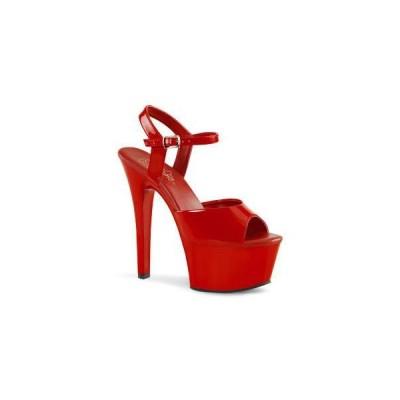 """サンダル プリーザー Pleaser ASPIRE-609 6"""" Heel asp609-r-m   靴 お取り寄せ商品"""