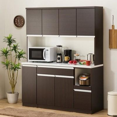 食器棚(レジューム 150TF-H DBR/150TL-R DBR) ニトリ 『配送員設置』 『5年保証』