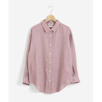 le.coeur blanc/ルクールブラン Herdmans Linen オーバーシャツ ラベンダー 38