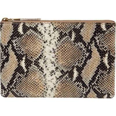 メイドウェル Madewell レディース クラッチバッグ バッグ Leather Pouch Clutch Neutral Snake Moonstone Multi