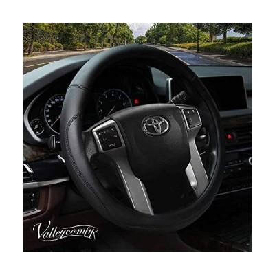 【並行輸入品】Valleycomfy Microfiber Leather Steering Wheel Cover Large-Size for F150 F250 F350 Ram 4Runner Tacoma Tundra Range Rover