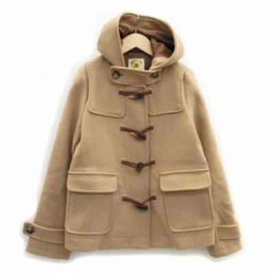 【中古】レイビームス Ray Beams コート ダッフル ショート丈 フード付き ウール 0 ブラウン 茶色 /MS5 レディース