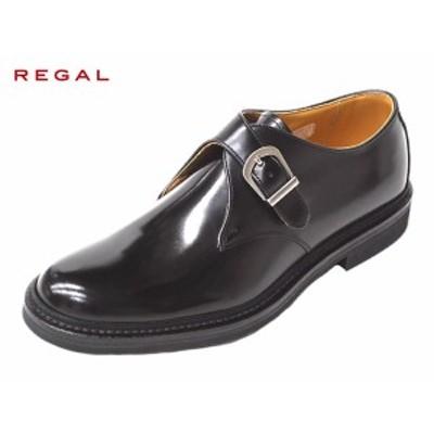 REGAL リーガル JU16 AG モンクストラップ ブラック