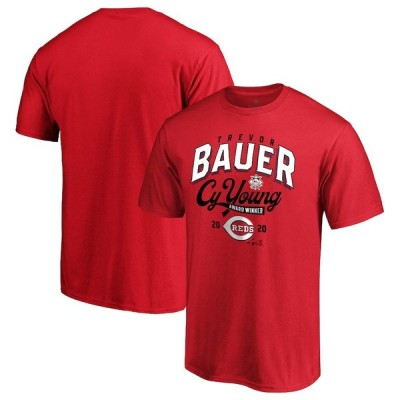 "ファナティックス メンズ Tシャツ Trevor Bauer ""Cincinnati Reds"" Fanatics Branded 2020 NL Cy Young Award T-Shirt - Red"