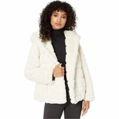 アパリス APPARIS レディース コート ファーコート フード アウター Goldie 3 Hooded Faux Fur Coat Ivory