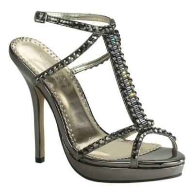 ジョナサン ケイン オックスフォード シューズ レディース Dante T-Strap Sandal (Women's) Pewter Mirror Patent